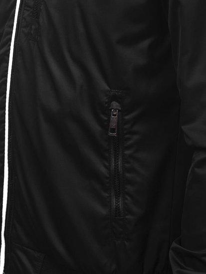 Kurtka męska przejściowa czarna Bolf K01