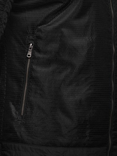 Kurtka męska przejściowa czarna Denley 1702