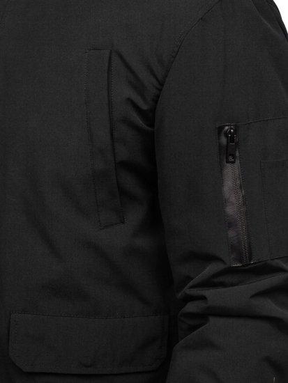 Kurtka męska przejściowa czarna Denley 2019005