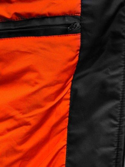 Kurtka męska przejściowa czarna Denley 4498