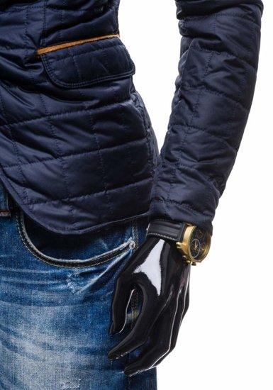 Kurtka męska przejściowa elegancka granatowa Denley y606