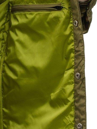 Kurtka męska przejściowa elegancka zielona Denley 5004