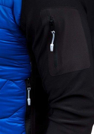 Kurtka męska przejściowa niebieska Denley s015