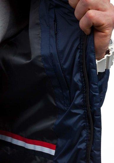 Kurtka męska przejściowa sportowa granatowa Denley m503
