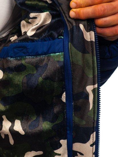 Kurtka męska przejściowa sportowa pikowana granatowa Denley 50A462