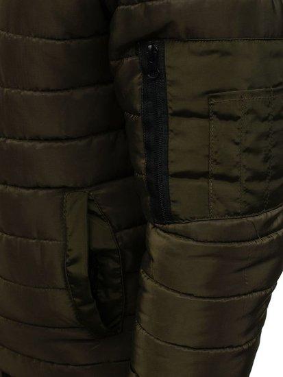 Kurtka męska przejściowa sportowa zielona Denley AK85