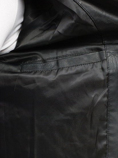 Kurtka męska skórzana czarna Denley 9135