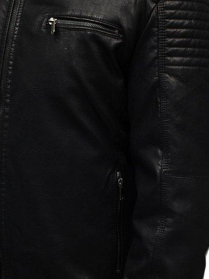 Kurtka męska skórzana czarna Denley EX832