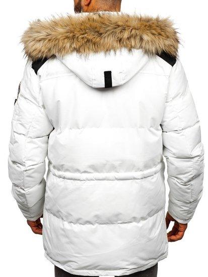Kurtka męska zimowa biała Denley 5948