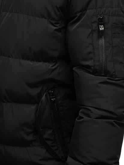 Kurtka męska zimowa czarna Denley 5287