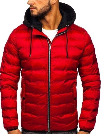 Kurtka męska zimowa czerwona Denley 5332