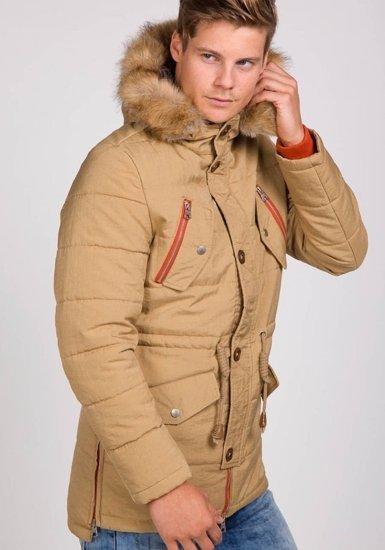 Kurtka męska zimowa khaki Denley 7577