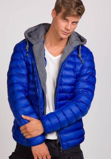 Kurtka męska zimowa niebieska Denley 3110
