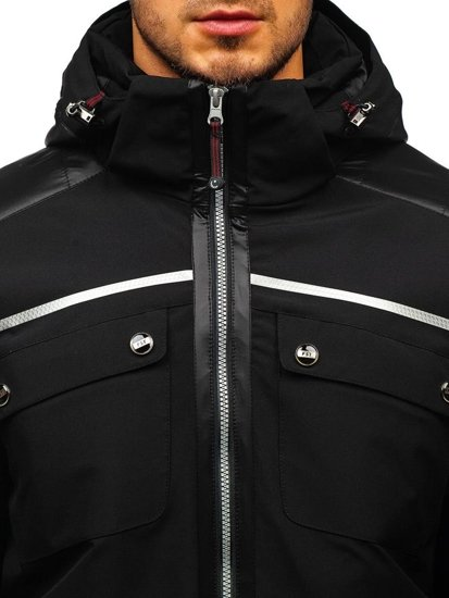 Kurtka męska zimowa softshell czarna Denley K33