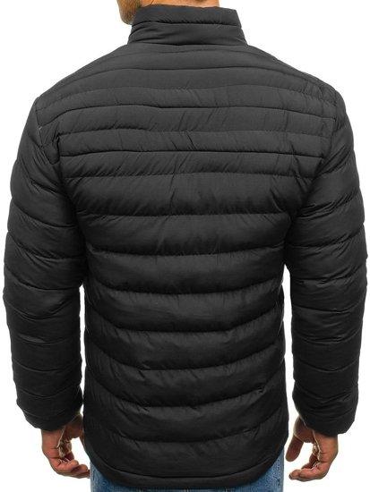 Kurtka męska zimowa sportowa czarna Denley JS517