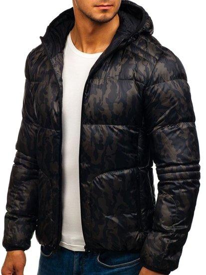 Kurtka męska zimowa sportowa moro-khaki Denley 3146