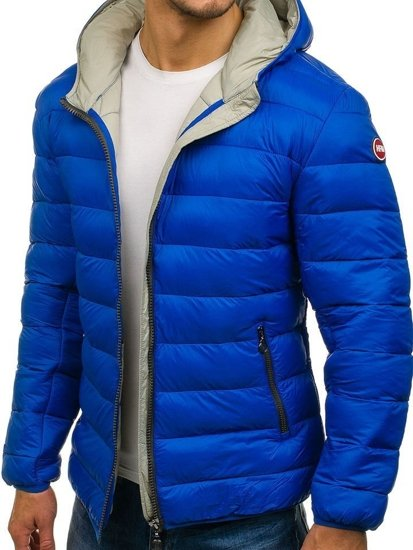 Kurtka męska zimowa sportowa niebieska Denley 1115