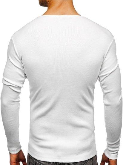 Longsleeve męski bez nadruku biały Bolf 145362