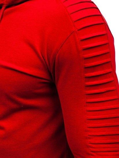 Longsleeve męski bez nadruku czerwony Bolf 2148