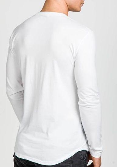 Longsleeve męski z nadrukiem biały Denley 117
