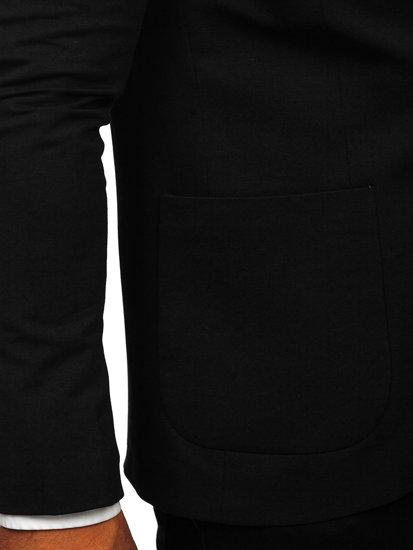 Marynarka męska elegancka czarna Denley 1652