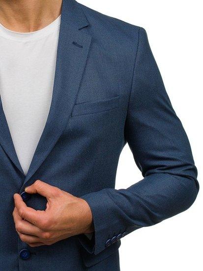 Marynarka męska elegancka niebieska Denley 1050