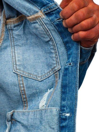 Niebieska jeansowa kurtka męska Denley AK588