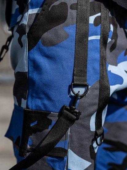 Niebieskie spodnie joggery bojówki męskie Bolf 11105