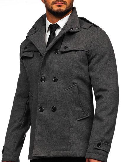 Płaszcz męski szary Denley 8857
