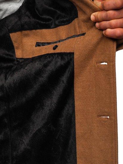 Płaszcz męski zimowy camelowy Denley 1047C