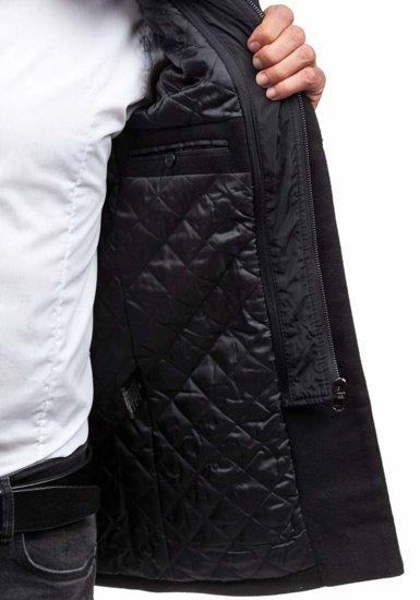 Płaszcz męski zimowy czarny Denley 8777