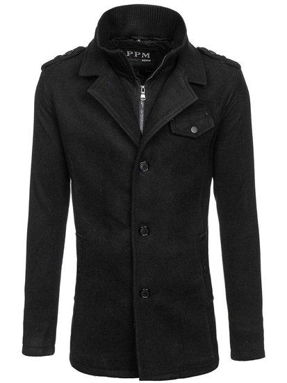 Płaszcz męski zimowy czarny Denley 8853