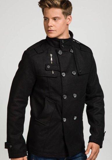 Płaszcz męski zimowy czarny Denley EX903