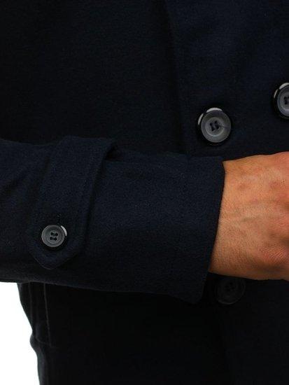 Płaszcz męski zimowy granatowy Denley EX906