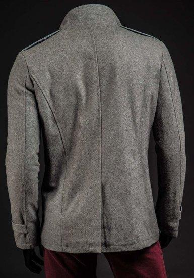 Płaszcz męski zimowy szary Denley 1903