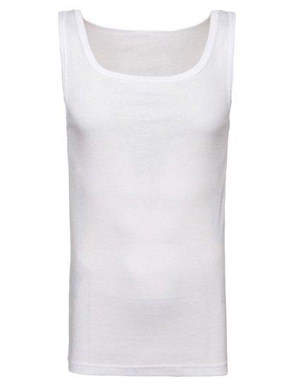 Podkoszulek męski bez nadruku biały Denley C10050