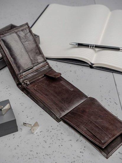 Portfel męski skórzany brązowy 3191
