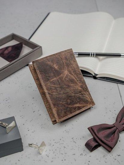 Portfel męski skórzany brązowy 3202