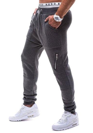 Spodnie baggy męskie antracytowe Denley k11