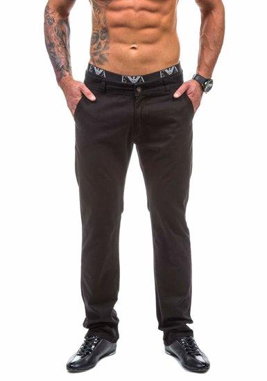 Spodnie chinosy męskie czarne Denley 570