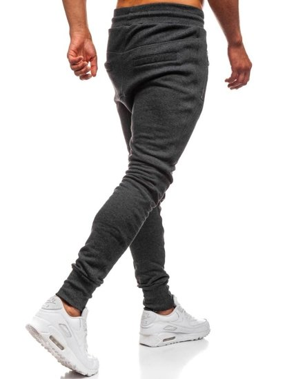 Spodnie dresowe baggy męskie antracytowe Bolf 43S-S