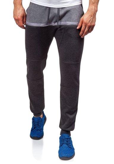 Spodnie dresowe baggy męskie antracytowe Denley 6026