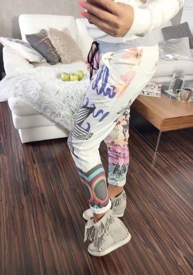 Spodnie dresowe damskie 0669 białe