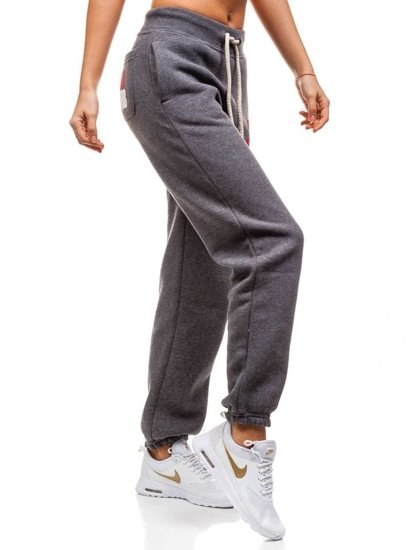 Spodnie dresowe damskie antracytowe Denley 601