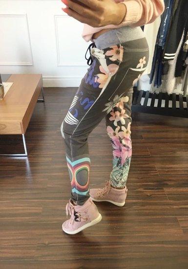 Spodnie dresowe damskie grafitowe Denley 0669