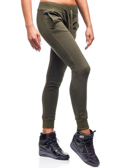 Spodnie dresowe damskie zielone Denley WB11003
