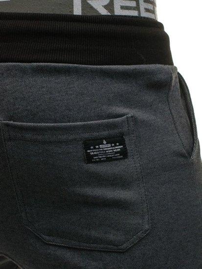 Spodnie dresowe joggery męskie antracytowe Denley 1139