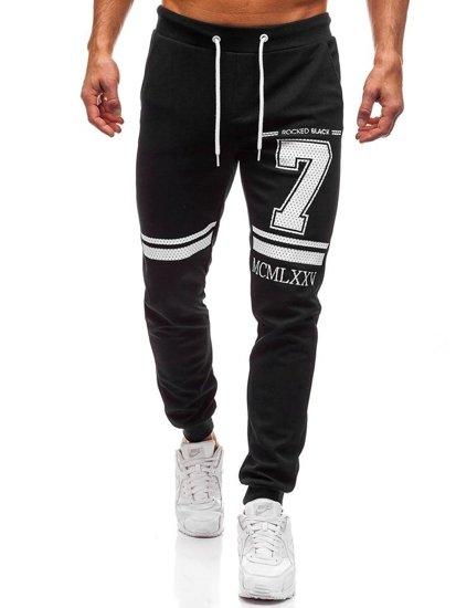 Spodnie dresowe męskie czarne Denley 1078