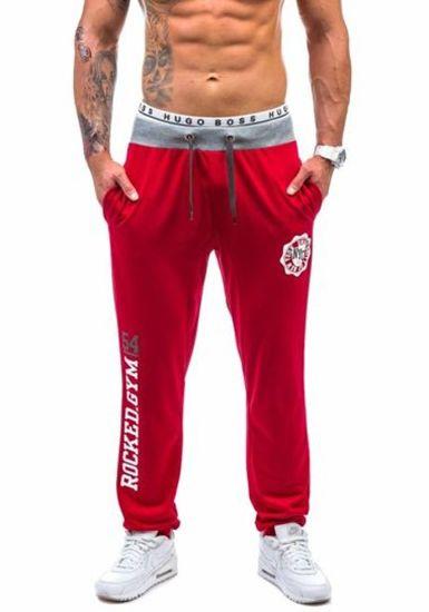 Spodnie dresowe męskie czerwone Denley 1044