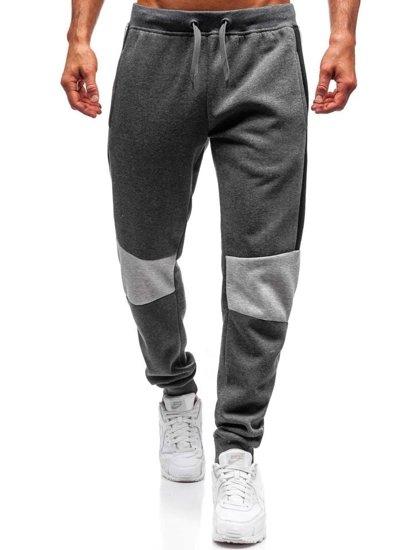 Spodnie dresowe męskie grafitowe Denley KZ01